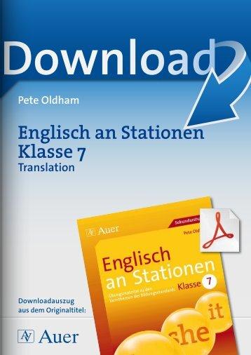 Englisch an Stationen Klasse 7