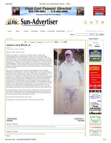Obituaries Death Notices Newspaper Obituaries Online Obituaries ...