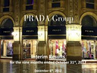 3Q 2012 Results Presentation. - Prada Group