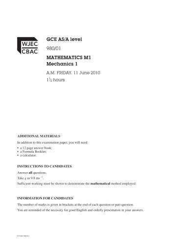 june maths past paper wjec