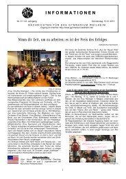 Info 01 43 - Informationen - Gymnasium Weilheim