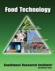 Food Technology - Southwest Research Institute