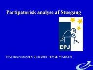 Participatorisk analyse af stuegang - EPJ-Observatoriet