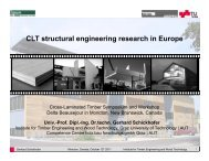 CLT structural engineering research in Europe - University of New ...