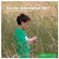Tag der Artenvielfalt 2007 - Stiftung Natur und Umwelt Rheinland-Pfalz