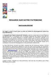 appel à projets patrimoine Midi-Quercy - Pays Midi-Quercy
