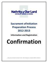 Sacrament ofInitiation Preparation Process 2012-2013 Information ...