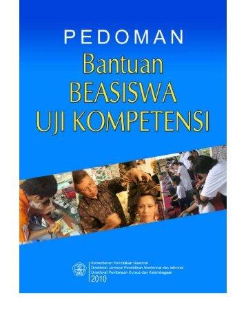 Pedoman Beasiswa Uji Kompetensi Tahun 2010