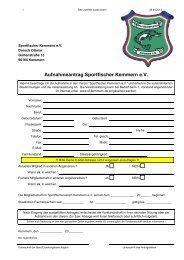 Aufnahmeantrag Sportfischer Kemmern e.V. - Sportfischerverein ...