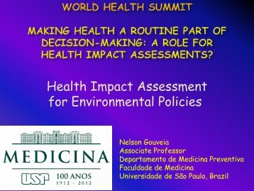 Health Impact Assessment for Environmental Policies - World Health ...