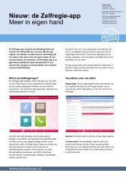 Nieuw: de Zelfregie-app Meer in eigen hand - Stichting CliP