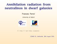 Annihilation radiation from neutralinos in dwarf galaxies - Institute for ...