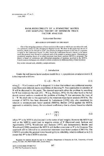 Rank-reducibility of a symmetric matrix and sampling theory of ...