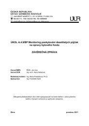 Závěrečná zpráva - Ústav územního rozvoje