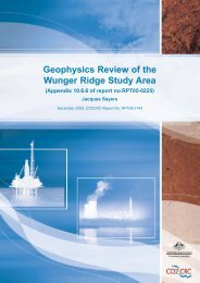 Geophysics Review of the Wunger Ridge Study Area. - CO2CRC