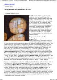 Los mejores libros de la primavera 2011: Poesía - Manuel Padorno