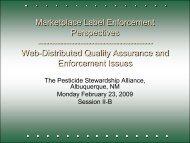 Marketplace Label Enforcement Perspectives - The Pesticide ...
