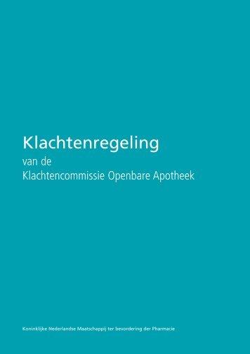 Klachtenregeling Klachtencommissie Openbare Apotheek - KNMP
