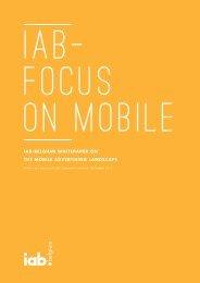iab-belgium whitepaper on the mobile advertising ... - IAB Community