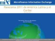 Panorama 2011 de América Latina y el Caribe - Microfinance ...