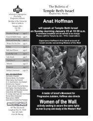 Jan 2011 - Temple Beth Israel