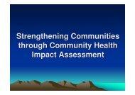 Strengthening Communities through Community Health Impact ...
