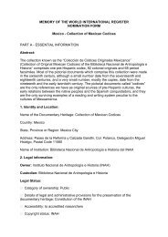 MEMORY OF THE WORLD INTERNATIONAL REGISTER - Unesco
