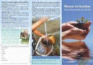 Wasser ist kostbar - Schweizerische Vereinigung für Vegetarismus