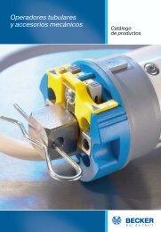 Operadores tubulares y accesorios mecánicos - Becker-Automatismos