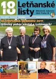 olympiáda seniorů 2011 olympiáda seniorů 2011 ... - Letňanské listy