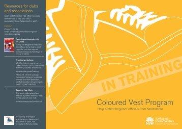 Coloured Vest Program brochure - NSW Sport and Recreation