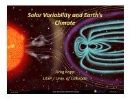 Solar Variability and Earth's Climate