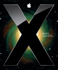 Mac OS X Security Configuration - Office of Information Technology