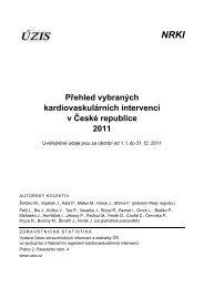 Přehled vybraných kardiovaskulárních intervencí v ČR 2011 - ÚZIS ČR