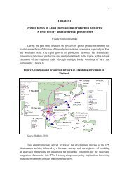 Chapter I Driving forces of Asian international production ... - escap