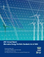 2007 Annual Report - Pennsylvania Public Utility Commission