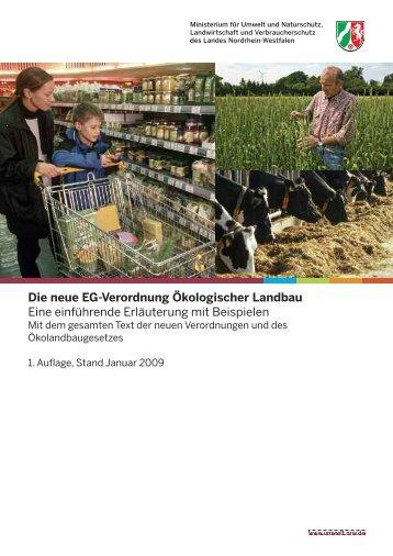 Die neue EG-Verordnung Ökologischer Landbau - Ministerium für ...