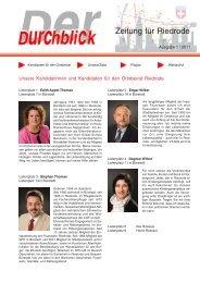 Durchblick 1-2011 Riedrode.pdf - SPD Bürstadt