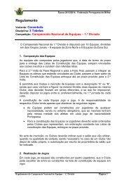 Regulamento - Federação Portuguesa de Bilhar