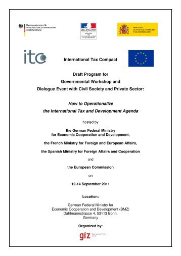 ITC Draft Programm for Governmental Workshop and Dialogue ...