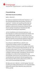 Pressemeldung des Hauptsponsors DSGV (PDF, 39 kB) - Stiftung ...