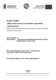Raport Zadanie 3 - klimat - Instytut Meteorologii i Gospodarki Wodnej
