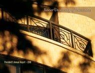 President's Annual Report — 2010 - Xavier University of Louisiana