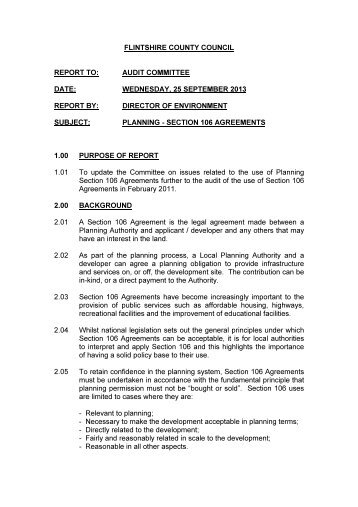 The Operation Of Section 106 Planning Agreements In London Pdf