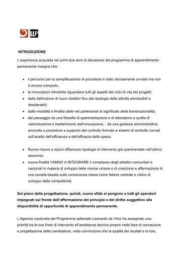 Introduzione generale - Programma Leonardo