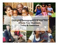 C & Changing Demographics & How This Affects Your Business ...