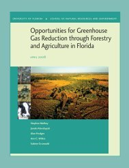 Florida GHG Reduction Report - College of Natural Resources and ...