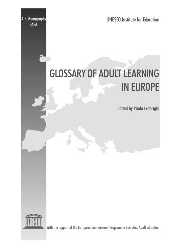 glossary of adult learning in europe - Unesco