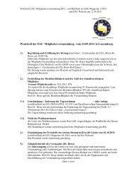 Protokoll der ESU Mitgliederversammlung vom 23.09.2011 in ...