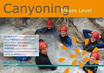 CanyoningBlaues Level